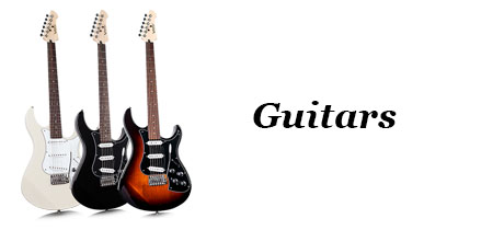 Music Equipment - Banner - Guitars