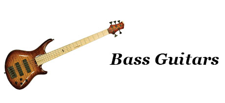 Music Equipment - Banner - Bass Guitars