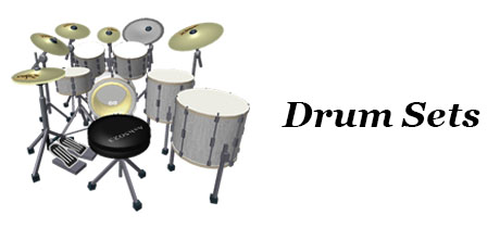 Music Equipment - Banner - Drum Sets